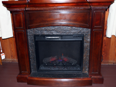 Wandering Bear Living Room fireplace